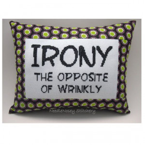 Funny Cross Stitch Pillow Cross Stitch Quote Black by NeedleNosey, $20 ...