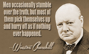 Winston Churchill on the growth of knowledge