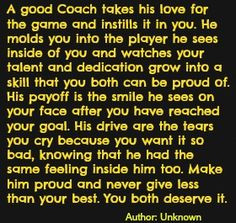 ... how I'm going to achieve it. Thanks Coach Motsinger your the best