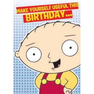 Family Guy Stewie Birthday Greeting Card