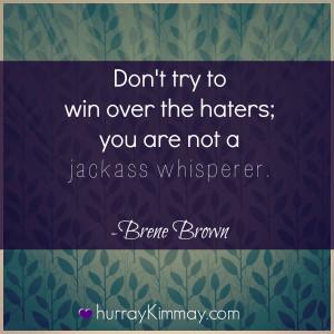 Brene Brown quote via Hurray Kimmay