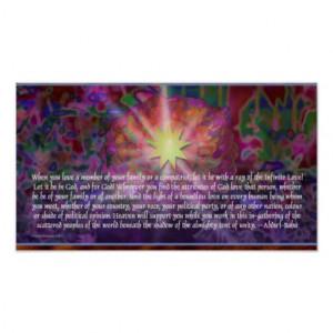 Beautiful Baha'i Quotation on Unity Poster