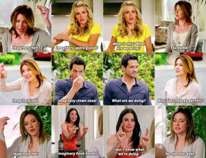 My favorite Cougar Town thing!!!!! Imaginary hook hands!!!!! (Ellie, I ...