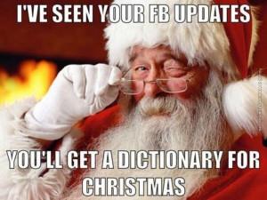 funny pics santa has seen your facebook updates