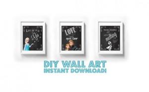 ... Chalk chalkboard Instant Download Children quote kristoff let it go on