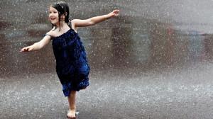 cute girl enjoing in rain wallpaper - View All