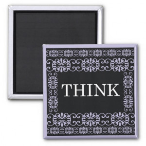Think - One Word Quote For Motivation Magnets
