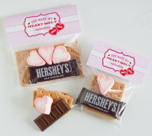 Valentine S'mores Packs by Anders Ruff: heart marshmallows + mini ...