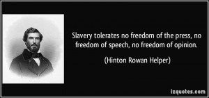 tolerates no freedom of the press, no freedom of speech, no freedom ...