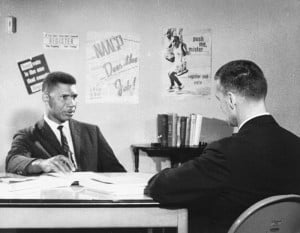 Medgar Evers being interviewed by CBS Reports producer William 'Bill ...