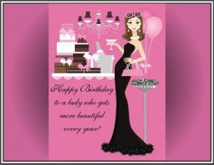 ... Happy Birthday Lady Deco Bottle Happy Birthday Bar Lady Deco Bottle