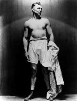 The Ring: Celebrating 80 Years With A picture of Jack Dempsey. He is ...