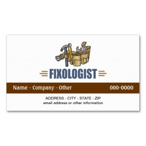 Funny Handyman Business Card