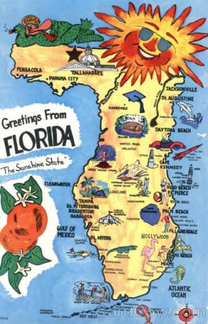 sunny florida tourist map scenic maps