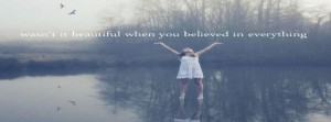 Beautiful Girl Never Grow Up Photography Quote Facebook Covers
