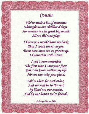 ... Quotes, I Love My Cousins Quotes, Cousins Poems, Menu, Cousins Forever