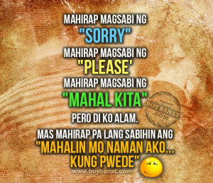 you have your own favorite Tagalog Frustrated Love Quotes and Sayings ...