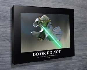 Motivational Poster Yoda Photo
