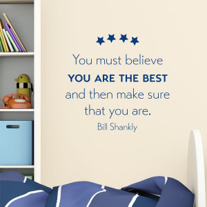 Believe You're The Best Stars Wall Quotes™ Decal
