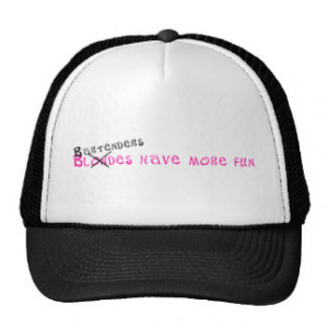 Bartenders Have More Fun Mesh Hats