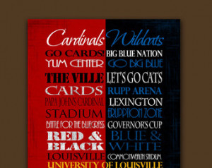 ... University of Kentucky Wildcats House Divided Ready to Hang Standout