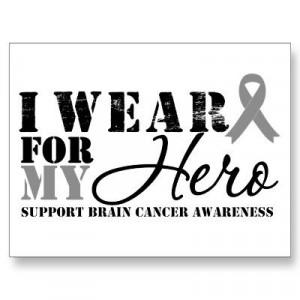 Brain Cancer Hero Grey Ribbon