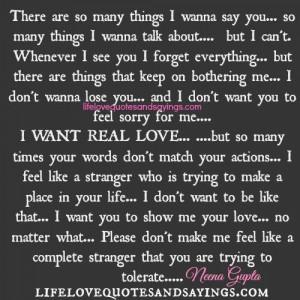 there are so many things i wanna say you so many things i wanna talk ...