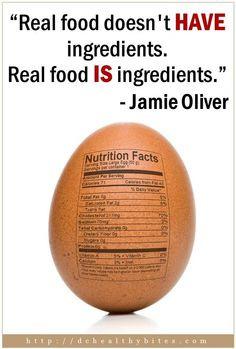 food doesn t have ingredients real food is ingredients jamie oliver ...