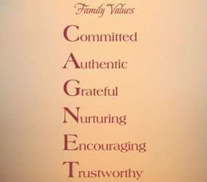 Family Values Name Wall Decals