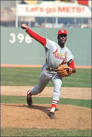 ... can and put your entire physiology into the throw. Witness Bob Gibson