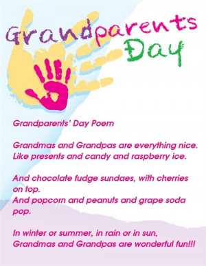 Special Grandparents Day Poems