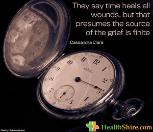 They say time heals all wounds, but that presumes the source of the ...