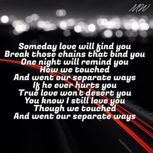 Separate ways Journey lyrics