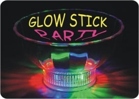 For something different, plan a Glow Stick Party!