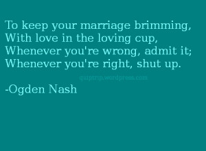 Ogden Nash on marriage