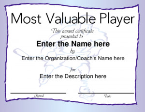 Most Valuable Player award with a modern blue frame, featuring a ...