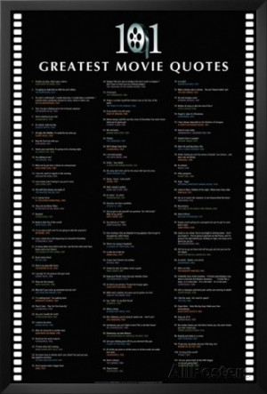 101 Greatest Movie Quotes Lamina Framed Poster