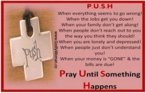 keep praying....