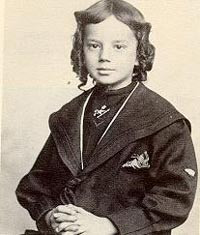 Thomas Wolfe, aged seven, the year after he started school.