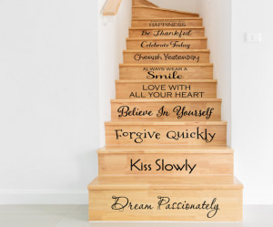 Stair Decals - Home Decals - In this House Wall Decal - Wall Decal ...
