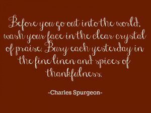 spices of thankfulness