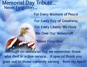 Free Quotes Pics on: Memorial Day Tribute