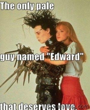 Johnny Depp In Edward Scissor hands Movie – Funny Quote.If you like ...