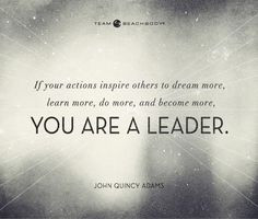 the goals set by leaders. If they're setting their own high goals ...