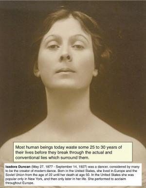 Isadora Duncan #quote