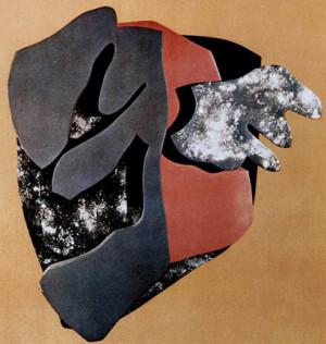 Portrait of Tristan Tzara by Hans Arp, 1916-17