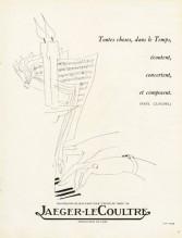 Jaeger-leCoultre 1948 Jean Pagès, Paul Claudel quote