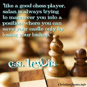 Lewis Christian Quote - Chess Player