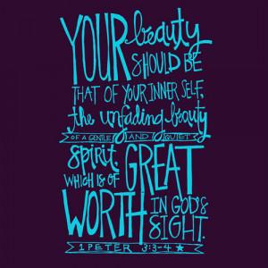 beauty life quotes God bible verse 1 Peter 3:3-4