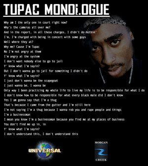 ... Be sure that only the person auditioning for Tupac appears on camera